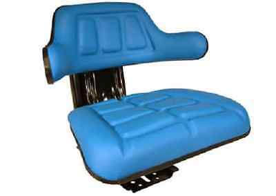 FORD TRACTOR UNIVERSAL SUSPENSION ADJUSTABLE BLUE WRAP AROUND SEAT VAT INC