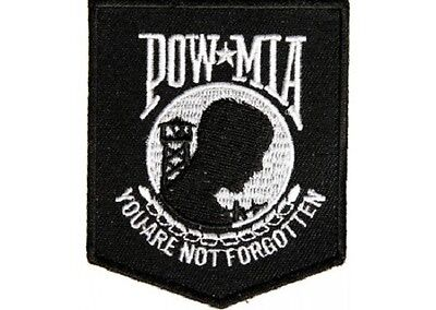 POW/MIA YOU ARE NOT FORGOTTEN MILITARY EMBROIDERED IRON ON PATCH