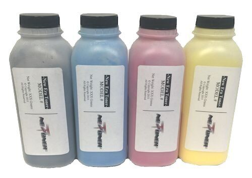 4 Color Toner Refill for Dell C3760dn C3760dnf C3760n C3765dnf MFP + 4 Chips