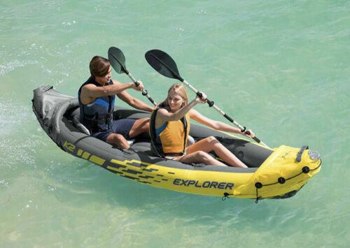 Intex Explorer K2 Inflatable 2 Person Kayak w/ Oars + Pump  ✅ 2DAYSHIPS