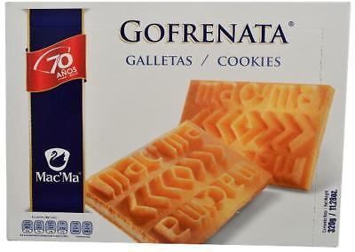 MAC MA Fine Mexican Cookies GOFRENATA~Vanilla Flavor~Get 2 Boxes~320g.each