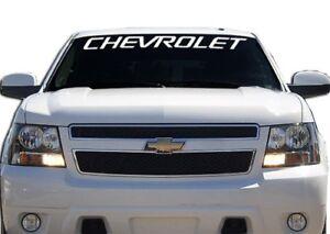 (1) Chevrolet Chevy Windshield Banner Decal Sticker tahoe silverado
