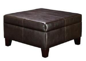 Attrayant Large Leather Ottoman