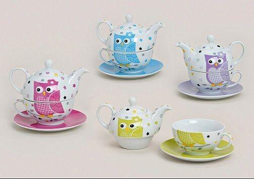 TEA FOR ONE SET EULE Farbwahl Keramik ( kleine Teekanne mit Teetasse )