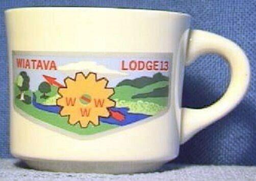BSA Mug OA Lodge 13 Wiatava silver border flap design +