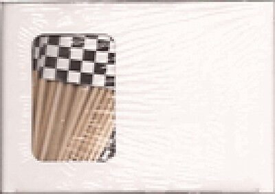Box Of 100 Checker Checkers Racing Toothpick Flags Dinner Cocktail Flags