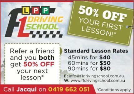F1 DRIVING SCHOOL FOR LEARNERS (NORTH AND WEST SUB. OF MELBOURNE) Brimbank Area Preview