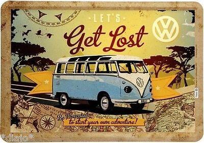 Nostalgic Art VW Bulli Get Lost Blechpostkarte 14 x 10 cm