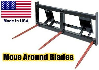 Industrial Bale Spike - Hay Spear - Pallet Fork - Skid Steer Attachment