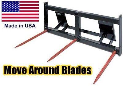 Industrial Bale Spike - Hay Spear - Pallet Fork - Skid Steer Attachment