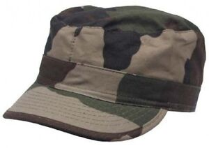 New-Mens-US-Style-BDU-Field-Combat-RIPSTOP-Baseball-Cap-FRENCH-CCE-WOODLAND-CAMO