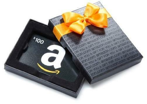$100 Amazon Gift Card in a nice Gift Box, Fast 1-day Shipping!