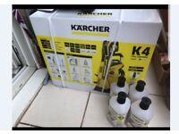 Karcher jet wash, unused, still in box. With 4 bottles of formula