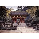 Gold Gate 15x22 Japanese Print by Yoshida Ltd. Edition Asian Art Japan