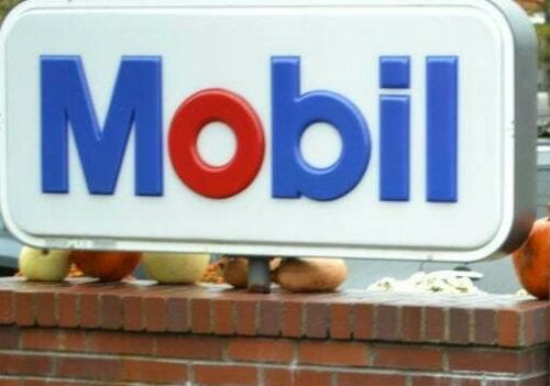 Original large Mobil gas station sign lens plastic 10