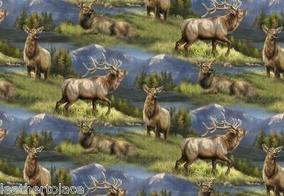 Springs Creative ~ ELK - Elkmont Ridge Allover ~ 100% Cotton Quilt Fabric BTY