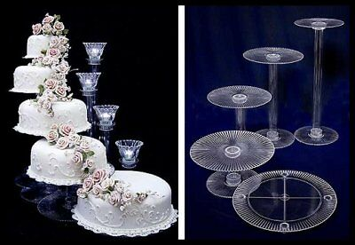 Tiered Cake Stand (5 TIER CASCADE WEDDING CAKE STAND (STYLE)