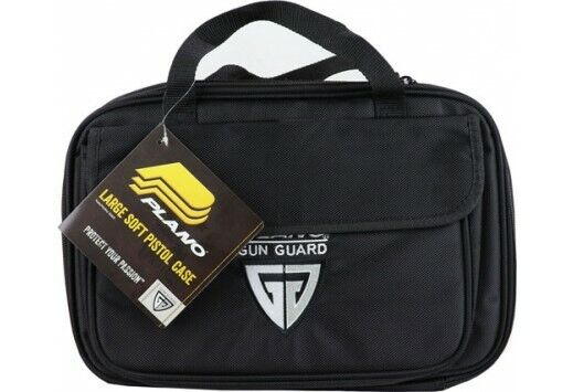 Plano Large Soft Pistol Case with Pockets for Extra Magazine