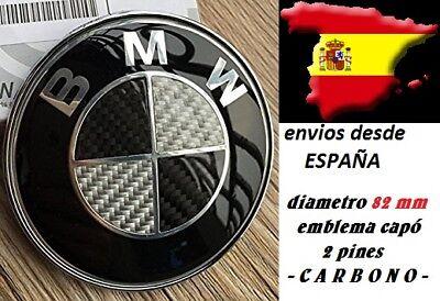 EMBLEMA LOGO CARBONO BMW DE 82MM CAPO FIBRA CARBONO NEGRO/BLANCO