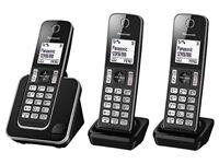 New Boxed! 3x Panasonic House Cordless Telephone + answer Machine RRP £80-£90