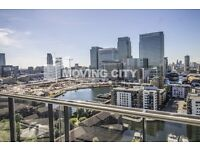 A BRAND NEW 17TH FLOOR ONE BEDROOM FLAT TO RENT IN CANARY WHARF E14 WITH GYM CONCIERGE