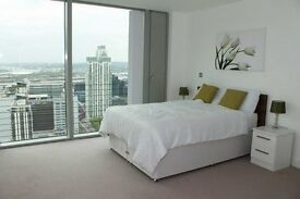 AMAZING 37TH FLOOR 3 BEDROOM APARTMENT IN LANDMARK EAST TOWER E14 CANARY WHARF
