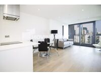 A BRAND NEW 9TH FLOOR ONE BEDROOM FLAT TO RENT IN CANARY WHARF E14 WITH BREATHTAKING VIEW + GYM + CO