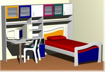 Children's full set bedroom furniture