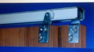 """3 COMPLETE CLOSET DOOR TRACK KITS FOR 2 DOORS WIDTHS 24"""" [610MM"""