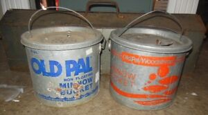 Old Pal galvanized minnow bucket London Ontario image 1