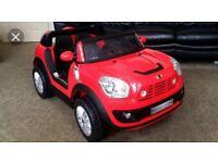 Mini Cooper Beachcomber 12V 2 Seater Ride On Car - Red