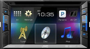 "JVC KW-V11 Double DIN In-Dash 6.1"" LCD Touchscreen Reciever"