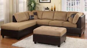 Unbelievable Price -  Sectional Sofa, Fabric, Leather starts