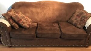 Microfiber – Brown Couch , excellent  condition- $150