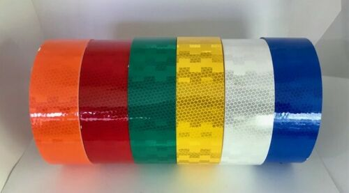 High Intensity Microprismatic Reflective Safety Tape - Six Colors