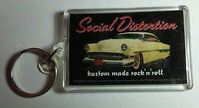 AS-IS SOCIAL DISTORTION CAR KUSTOM MADE ROCK N ROLL KEY CHAIN KEYCHAIN