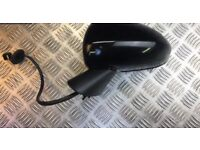 VAUXHALL CORSA E PASSENGER SIDE N/S ELECTRICAL WING MIRROR OFF 2015 PLATE IN BLACK 2015-2017 MODEL