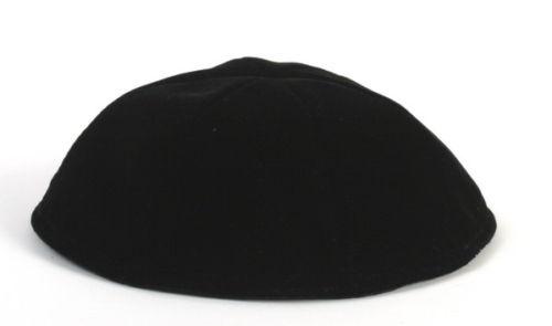 """6.3"""" Velvet Yarmulke Kippah Jewish Orthodox Yarmulka Kippa/Kipa Made in Israel M"""