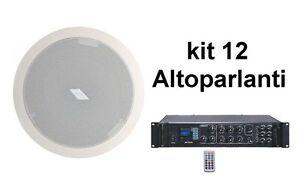 Sistema filodiffusione audio amplificatore pa usb sd 12 - Filodiffusione in casa ...