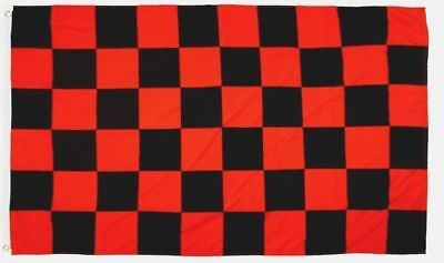 Checkered Red & Black Flag Banner 3' x 5' Polyester