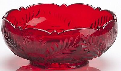 Bowl - Inverted Thistle - Mosser USA - Red Glass