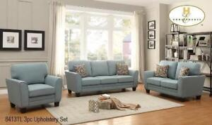 LEATHER STUDDED COUCH -TEAL SOFAS FOR SALE - TEAL AND RED LIVING ROOM _ VISIT US FOR MORE DESIGN IDEAS(BD-1300)