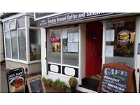Small cafe business for sale CHEAP RENT