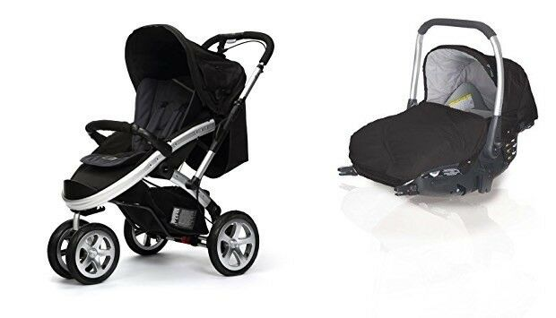 New, Never Used - S4 Stroller and Prima Isofix Car Seat (Black) by Designer Spanish brand Casualplay