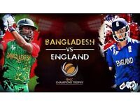 England vs Bangladesh ICC Champions Trophy 1st June - 4 GOLD SEATS Tickets Available