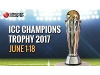 ICC Champions Trophy – India vs South Africa - Oval on Sunday 11 June 2017 Family Stand 6 tickets
