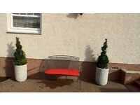 John Lewis garden bench and cushion