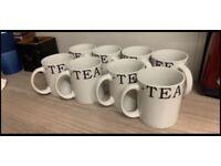 Set of 8 tea & coffee mugs