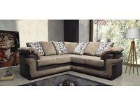 Cord fabric corner sofa