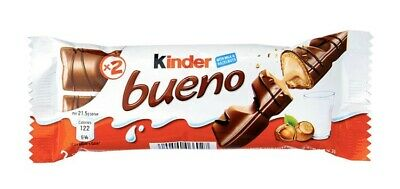 Kinder Bueno Candy Case Lot 20 bars. Each Package Has 2 Bars (243g x 20 bars) Kinder Bueno Candy